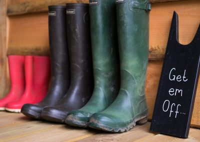 Wellie Boots Off - Lower Keats Glamping Devon
