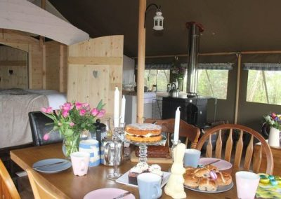 Hot cross buns warmed in the wood burning stove Lower Keats Farm Glamping Devon