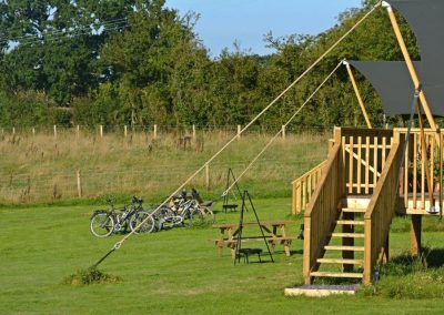 Summer Cycling at Lower Keats Farm Glamping Devon