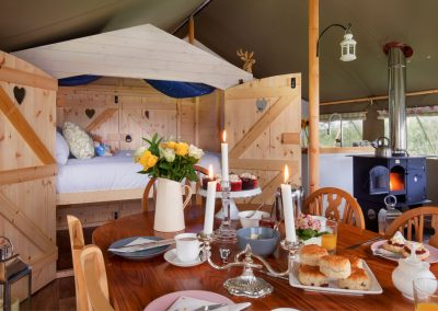 Dining area - Lower Keats Glamping Devon