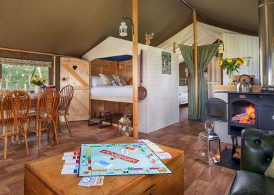 Lounge and Dining area - Lower Keats Glamping Devon