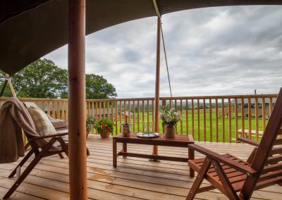 Balcony View - Lower Keats Glamping Lodges Devon