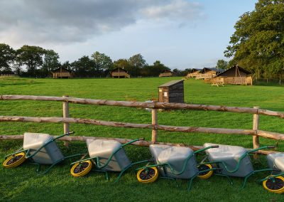 Wheelbarrows for moving stuff to your lodge