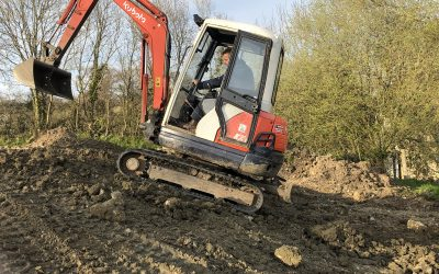 Gary has been busy with his digger!